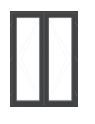 Anthracite PVC French Doorset