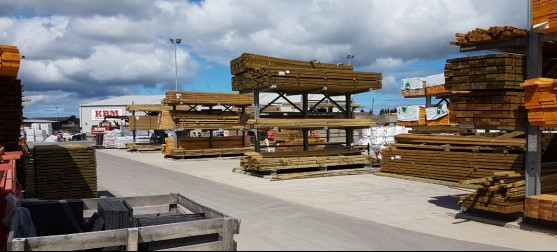 Vast range of timber and sheet materials available from stock